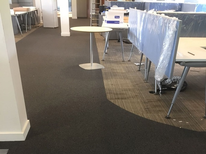 The carpets we installed in the job.