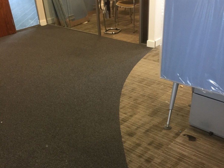 The new carpets for Morgan Sindall's office.