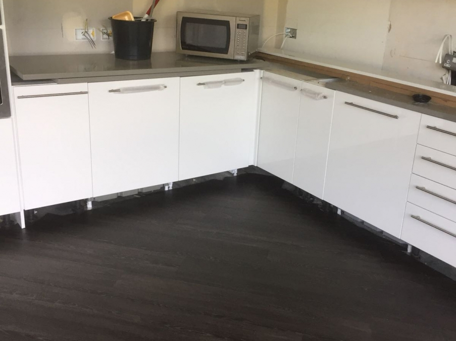 The Karndean flooring in the kitchen area.