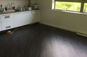 The Karndean flooring in the kitchen.