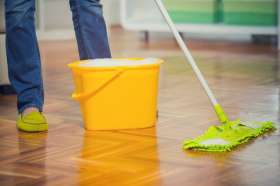 Microfibre Mop Used on a Real Wood Floor
