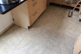 The vinyl floor tiles we installed in the job.