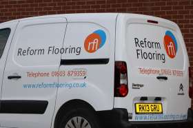 Reform Flooring installation van