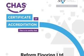 Reform Flooring's CHAS Accreditation certificate